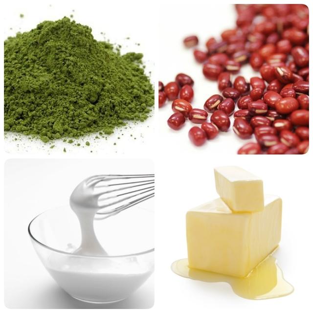 抹茶と大納言小豆のロールケーキ2