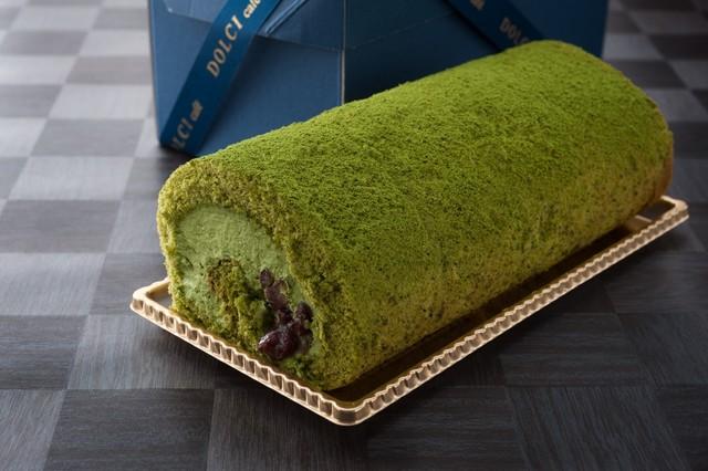 抹茶と大納言小豆のロールケーキ 18cm